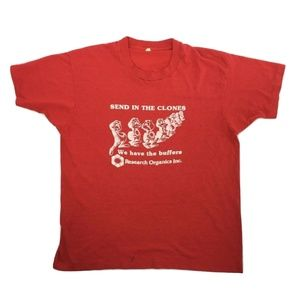 SEND IN THE CLONES Research Organics VTG T-shirt M
